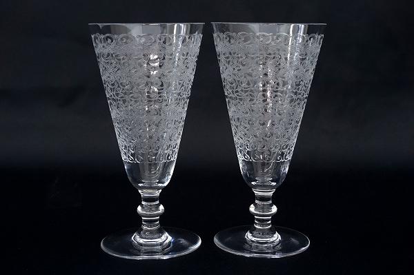 バカラ ペアグラスシャンパンフルートローハン14.5cmクリア