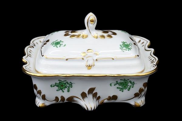 ヘレンド 陶器 ポッドスクエアボックス