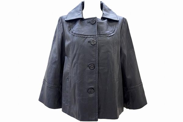 ヒロコビス レザージャケットコート