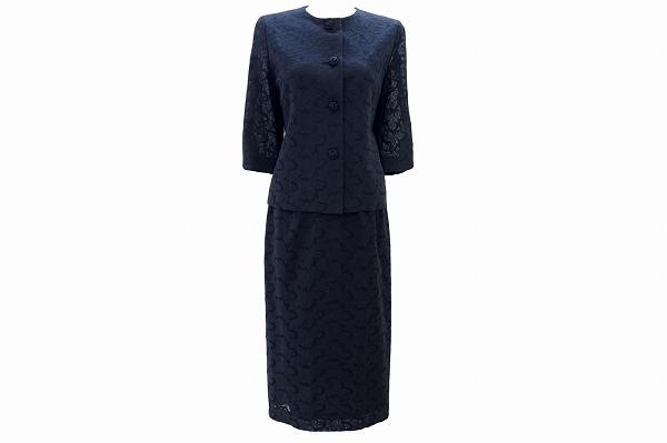 ラピーヌ スカートスーツ 総刺繍レースフォーマル