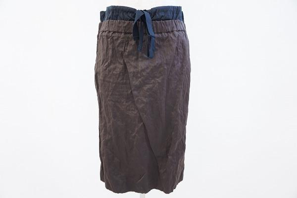 プラダ シワ加工スカート