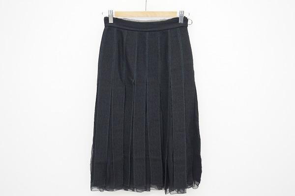 プラダ シースルーシルク混スカート