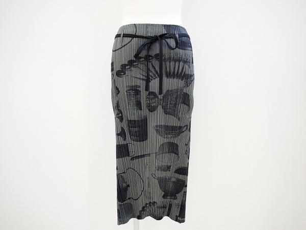 プリーツプリーズ 巻きスカート