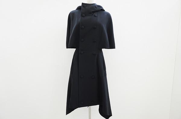 ヨウジヤマモト ウールポンチョ コート