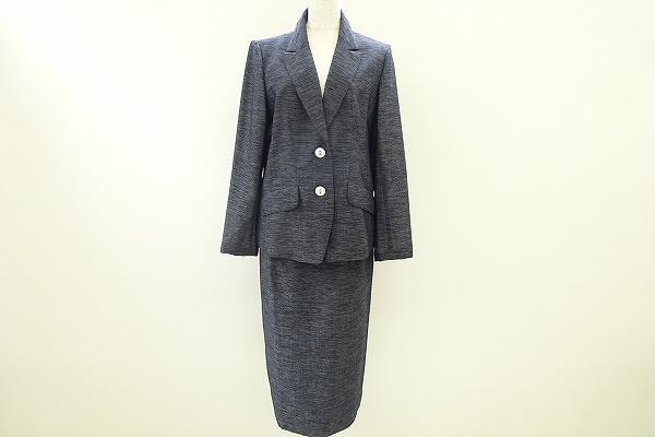 ラピーヌブランシュ/チャコールグレースカートスーツ