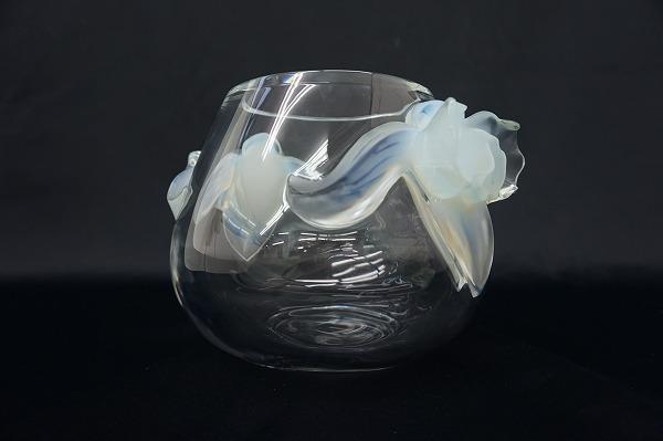 ラリック 蘭フラワーベース 花瓶