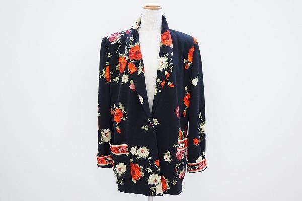 レオナール ウール花柄ジャケット