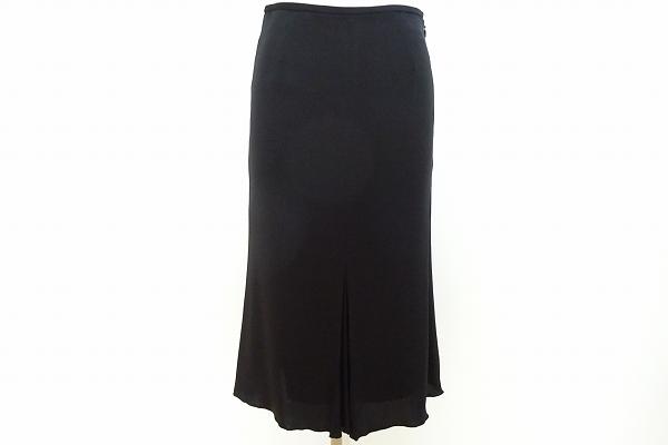 ランバン シルク混スカート