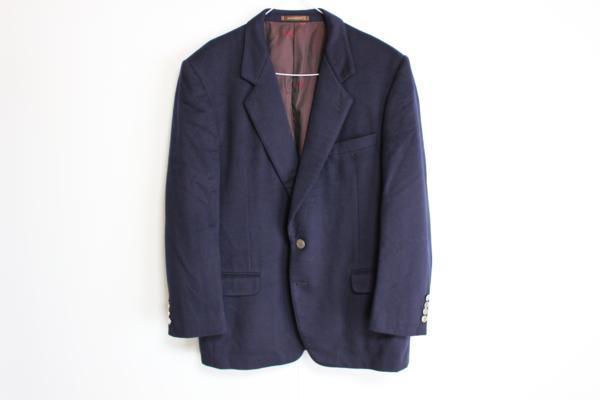 ジバンシィ カシミア銀ボタンメンズジャケット