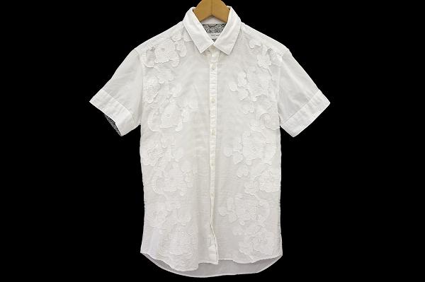 ポジャンティ メンズ刺繍入り半袖シャツ