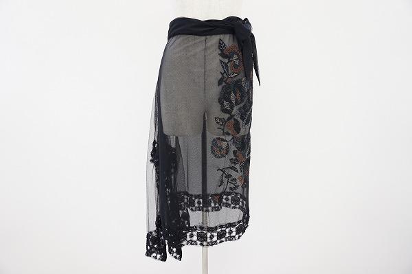 イッセイミヤケハート 巻きスカート