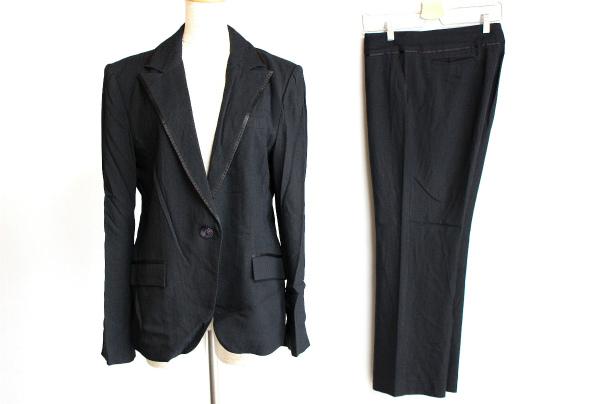 ヨシエイナバ /ブラックシングルパンツスーツ