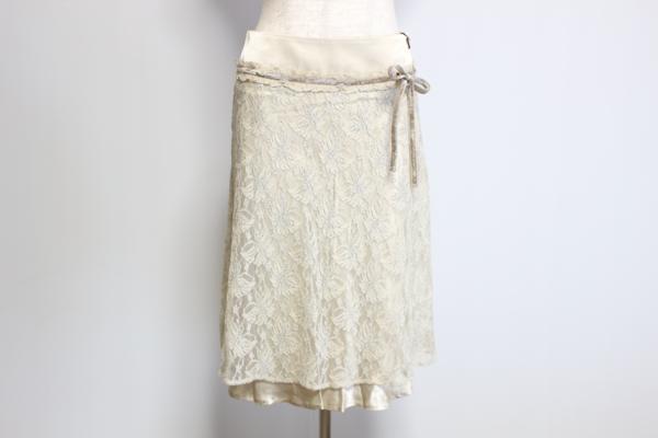 デュアルビュー ホワイトフレアスカート