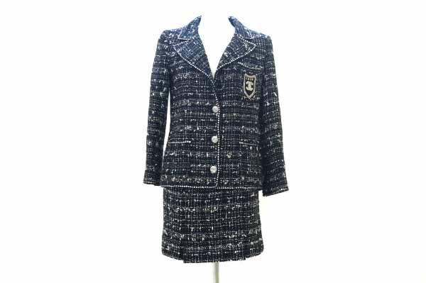 シャネル/ツイードスカートスーツ
