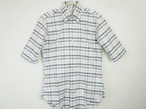 トムブラウン チェック半袖シャツ
