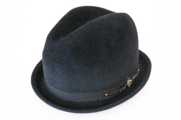 アンソニーペト 帽子 フランス製中折れフェルトハット ラビット