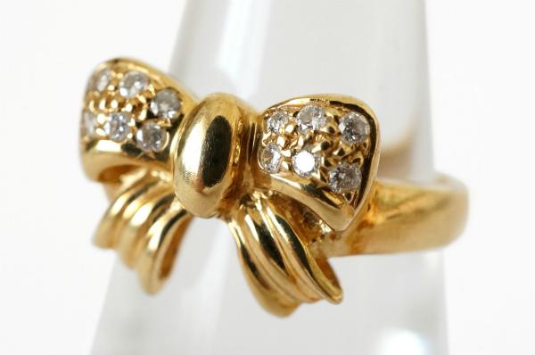 ポンテヴェキオ 指輪 ダイヤ ゴールド