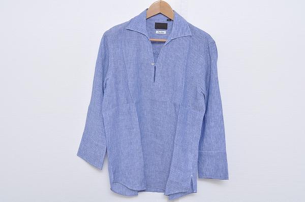 ユニバーサルランゲージ 七分袖シャツ 麻