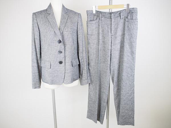 ヨシエイナバ/麻混 パンツスーツ
