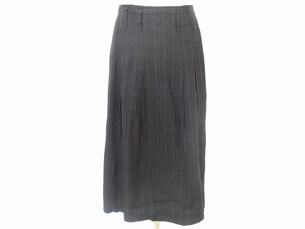 ヨシエイナバ ロングスカート シルク