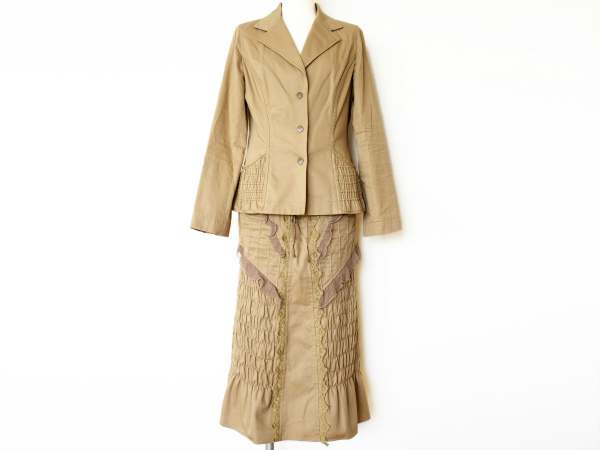 ユキトリイ ジャケット ロングスカート スーツ