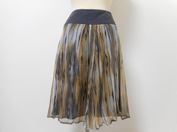 ラルトラモーダ モザイクスカート シルク