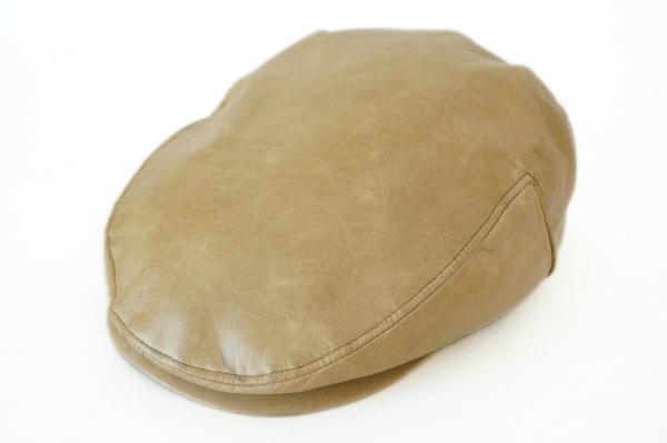 ギンザトラヤ ラムレザーハンチング帽