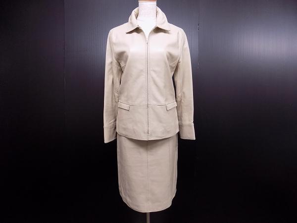 トゥモローランド レザースカートスーツ