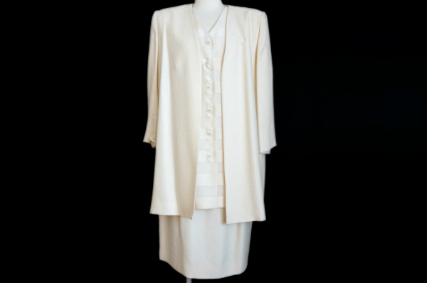 ジュンアシダ シルク混スカートスーツ 3ピース