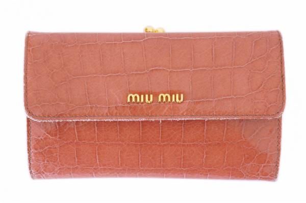 ミュウミュウ 長財布 がま口