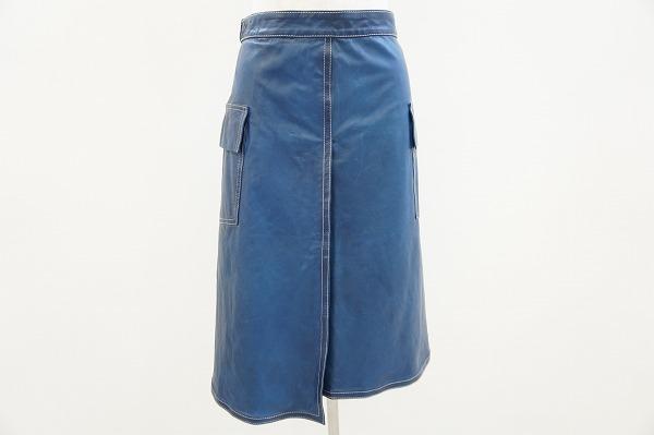 ジルサンダー レザースカート