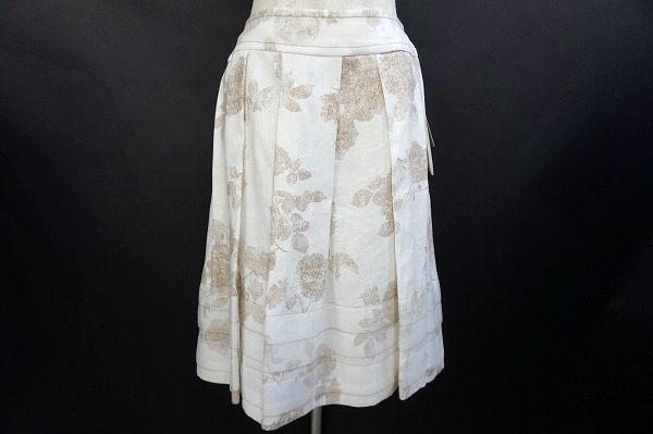 ハロッズ 花柄プリーツスカート