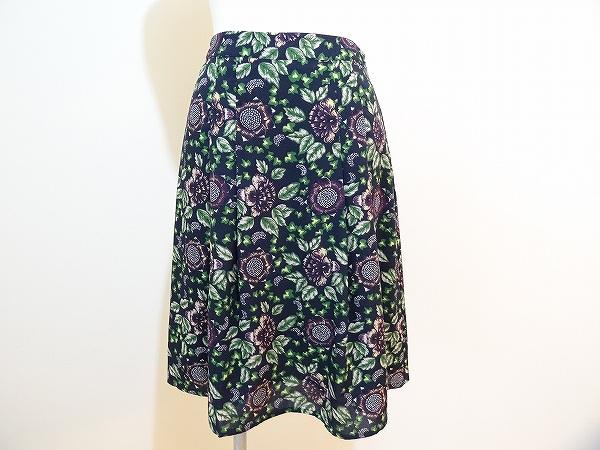 ローラアシュレイ 花柄 フレアスカート
