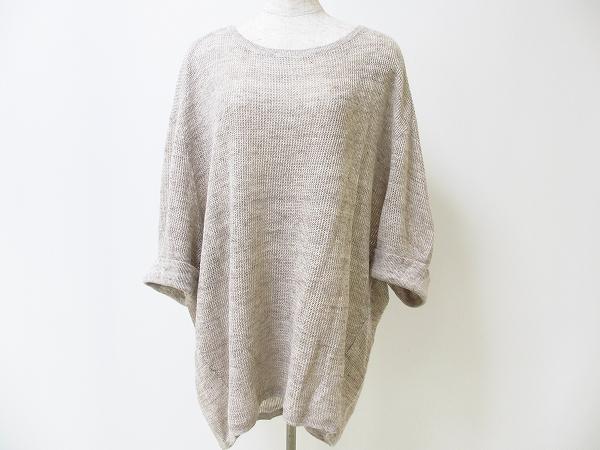 23区 麻素材ドルマンスリーブセーター