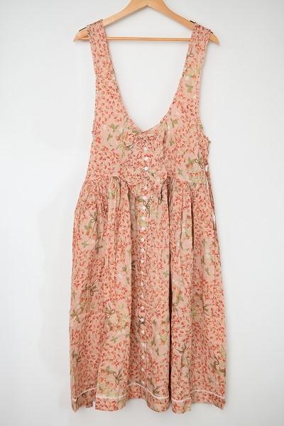 ピンクハウス ノースリーブ花柄ワンピース