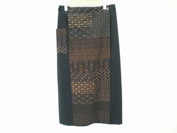 ギエモン ブラウス ラップスカート 和柄