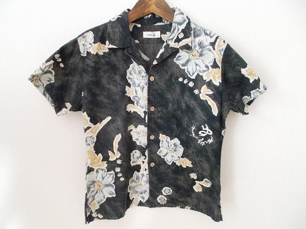 45RPM 花柄コットン半袖シャツ