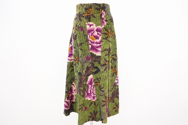 ケンゾー 花柄フレアスカート