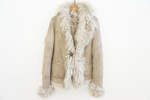 ゴア ファー付き羊革(カルガンラム)ムートンジャケット