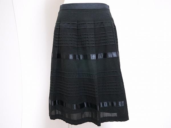 トゥービーシック コットンボーダースカート