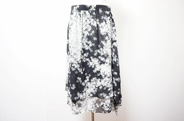 ケイタマルヤマ 花柄スカート