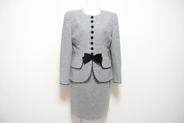 コージワタナベ リボン付きスカートスーツ