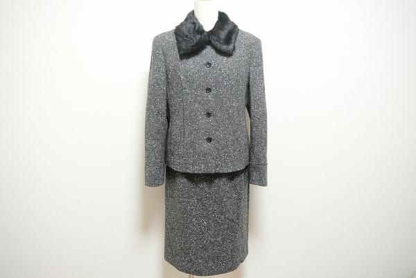 コルディア ファー付きスカートスーツ