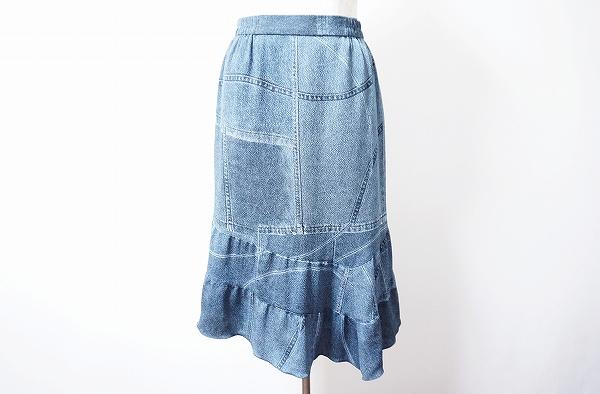 シセンドウ スカート マーメイドシルエット デニム柄