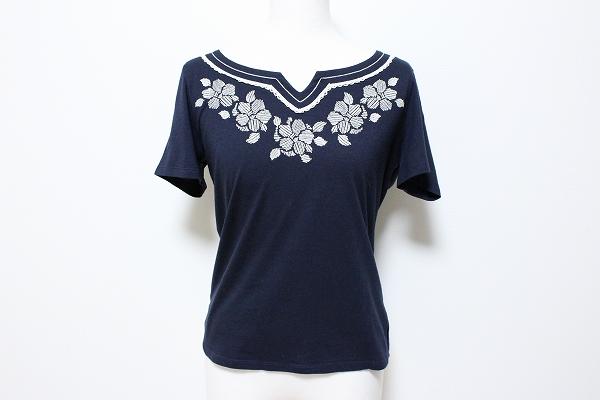 ローラアシュレイ カットソー Tシャツ 刺繍