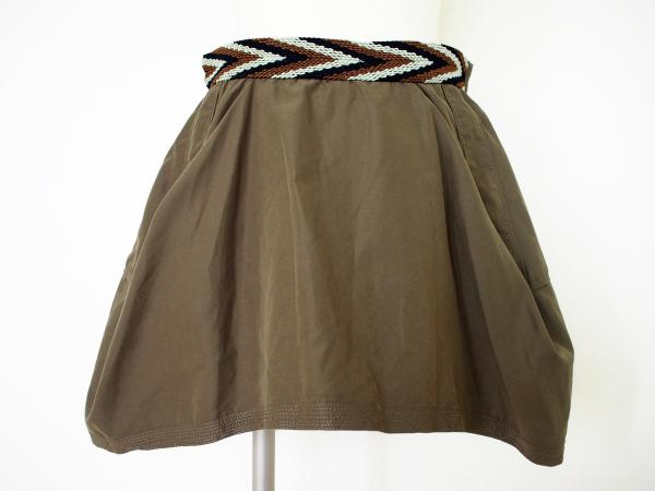 グリントマティ ベルト付きスカート
