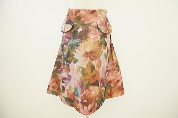 センソユニコ ボタニカル柄 スカート