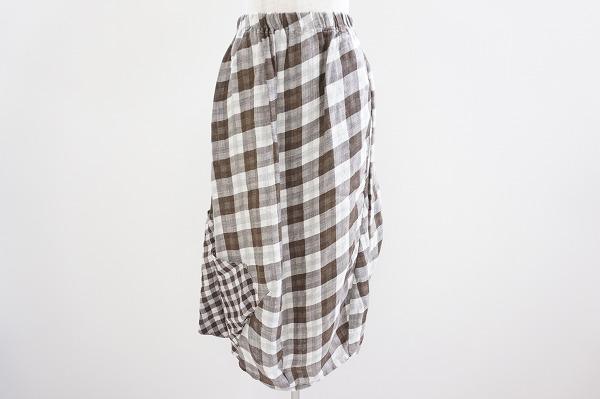 センソユニコ チェック麻スカート