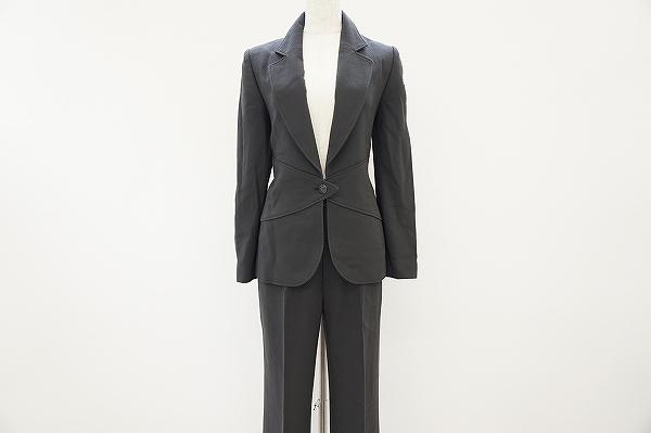 ジュンアシダ 羊毛パンツスーツ
