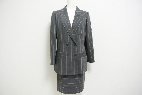 ジュンアシダ ストライプスカートスーツ